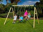 Colobus Wooden Pole Swing Set